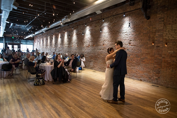 First Dance. Wedding Photography by Kristin Serna.