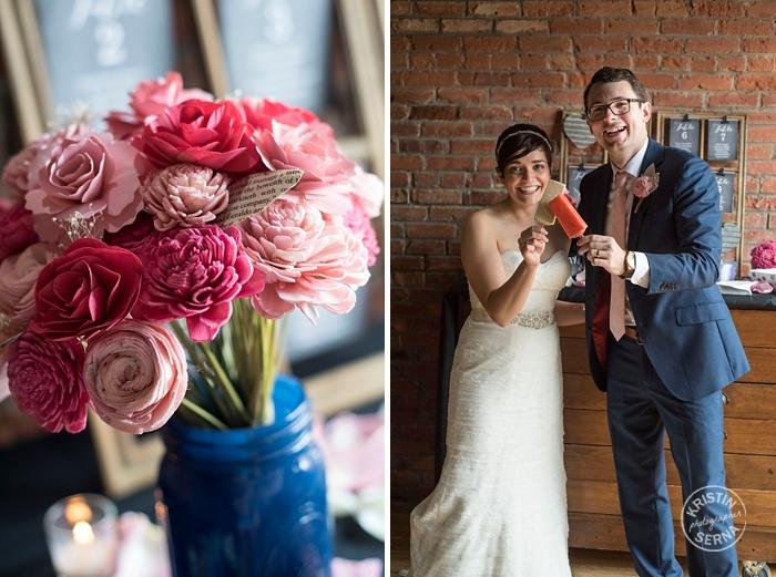 Wedding Popsicles. Photography by Kristin Serna.