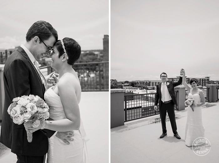 Rooftop Wedding Photography by Kristin Serna