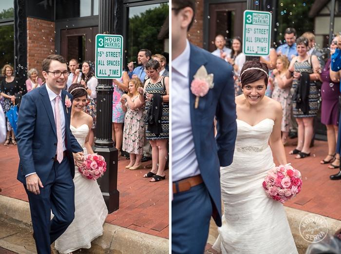 Bubble Exit by Wedding Photography Kristin Serna