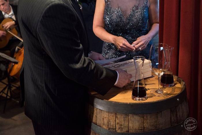 Wine Ceremony at Intimate Chicagoland Wedding. Photo by Kristin Serna