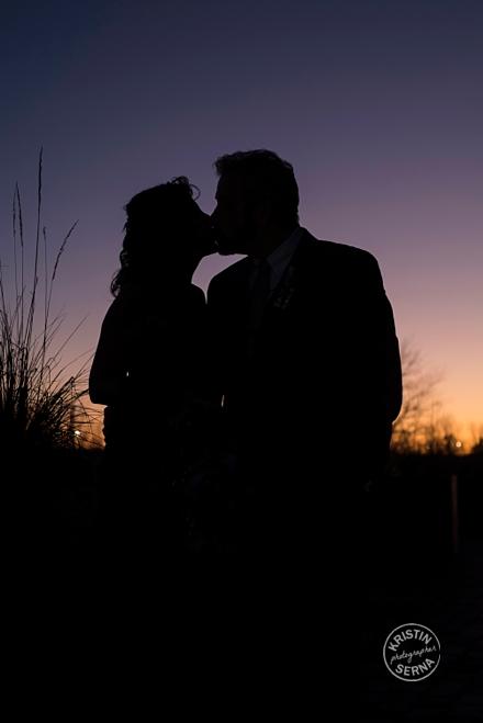 Wedding Silhouette Sunset Photo by Kristin Serna