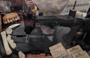 A sewing machine that Mrs. Scheffler sold to Mrs. Merkley for $1.