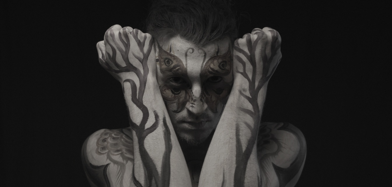 Screen shot from my upcoming art film entitled VIRTUE. Body art by Diego Pacheco.