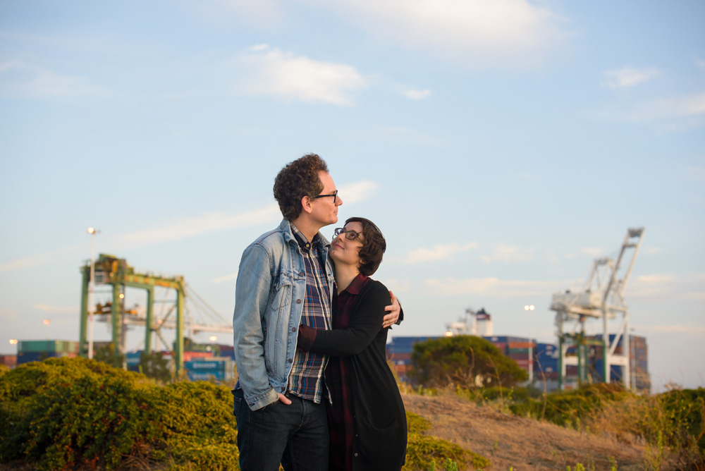 Couple with glasses at Port of Oakland