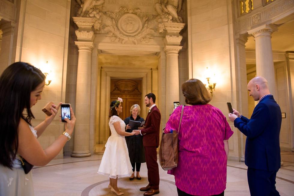 San Francsico City Hall wedding photography