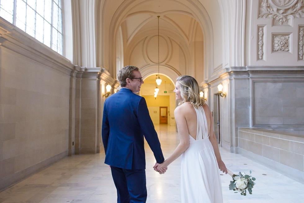 SF City Hall winter wedding