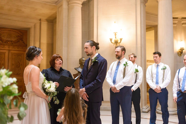 City Hall civil ceremony in the rotunda