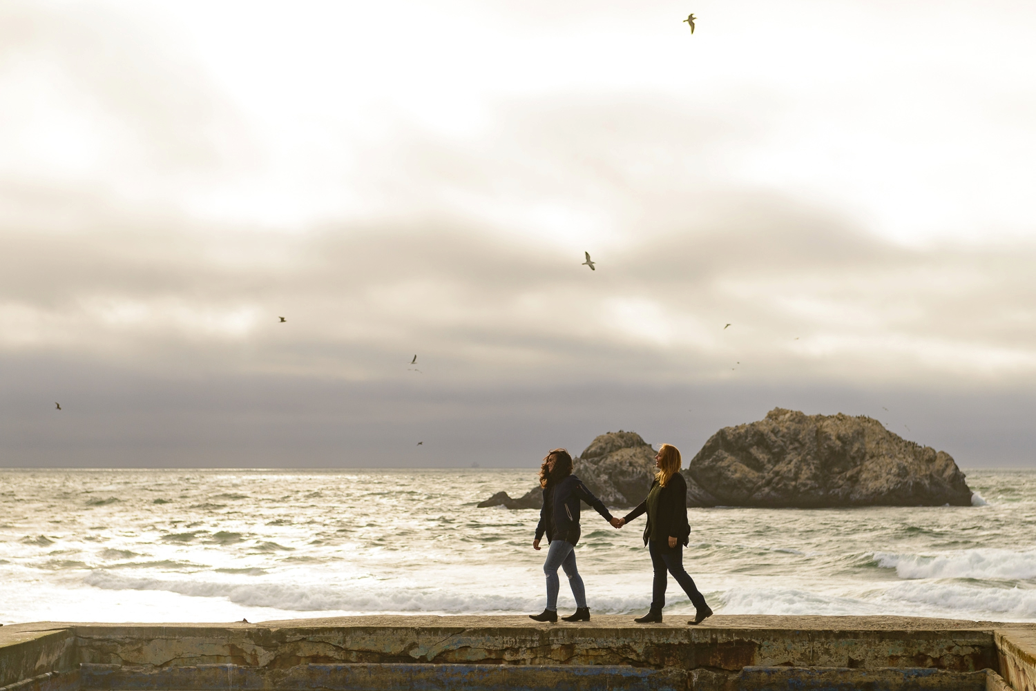 SF Lands End engagement photography