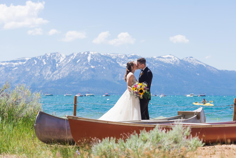 Bride and groom in South Lake Tahoe