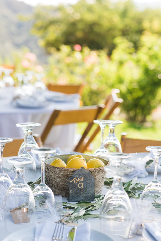 Summer wedding table decorations
