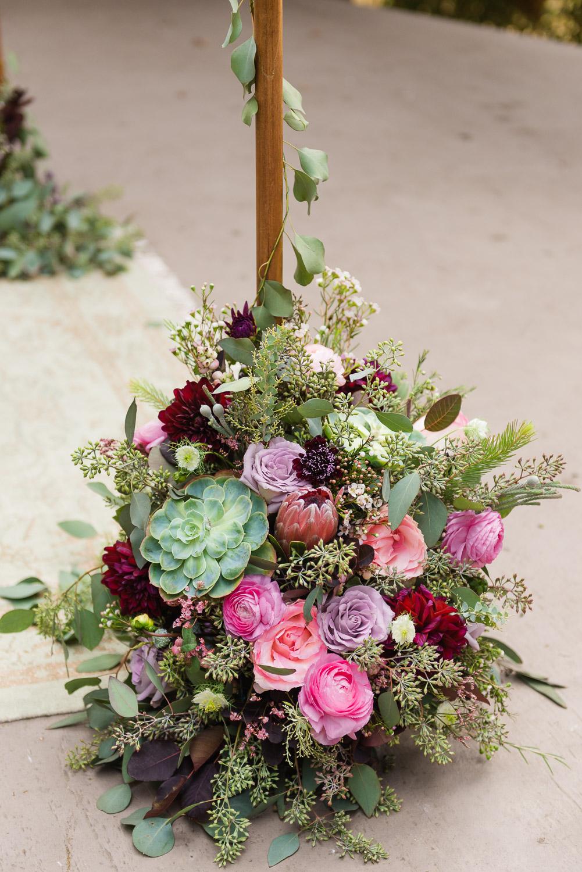 Flowers under a chuppah