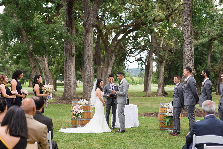 Elegant country club wedding ceremony