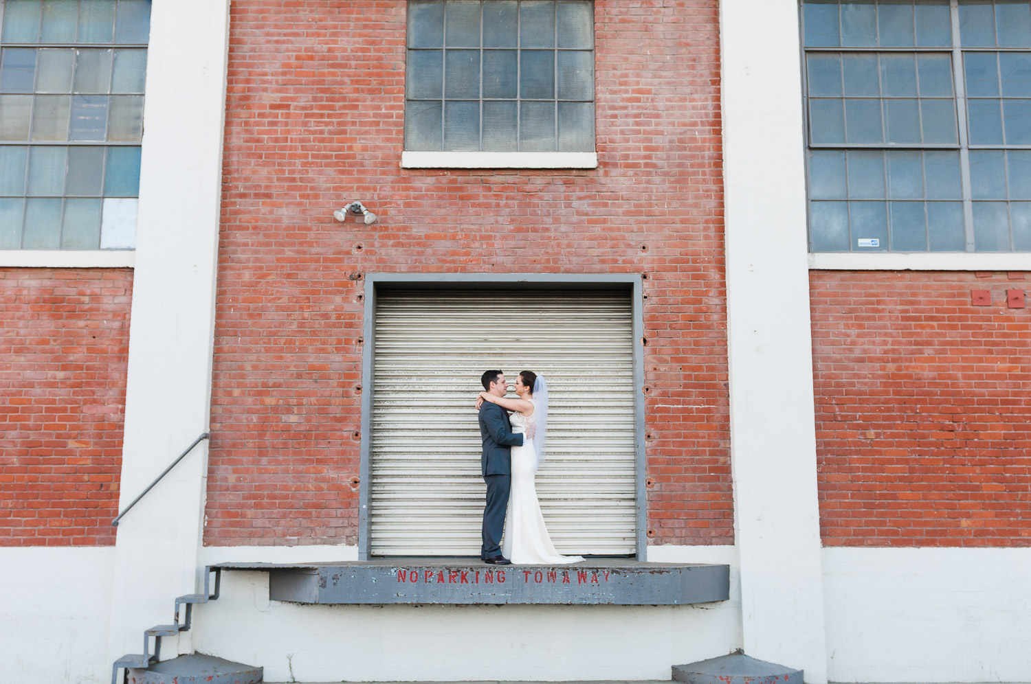 Bride and groom in the dogpatch