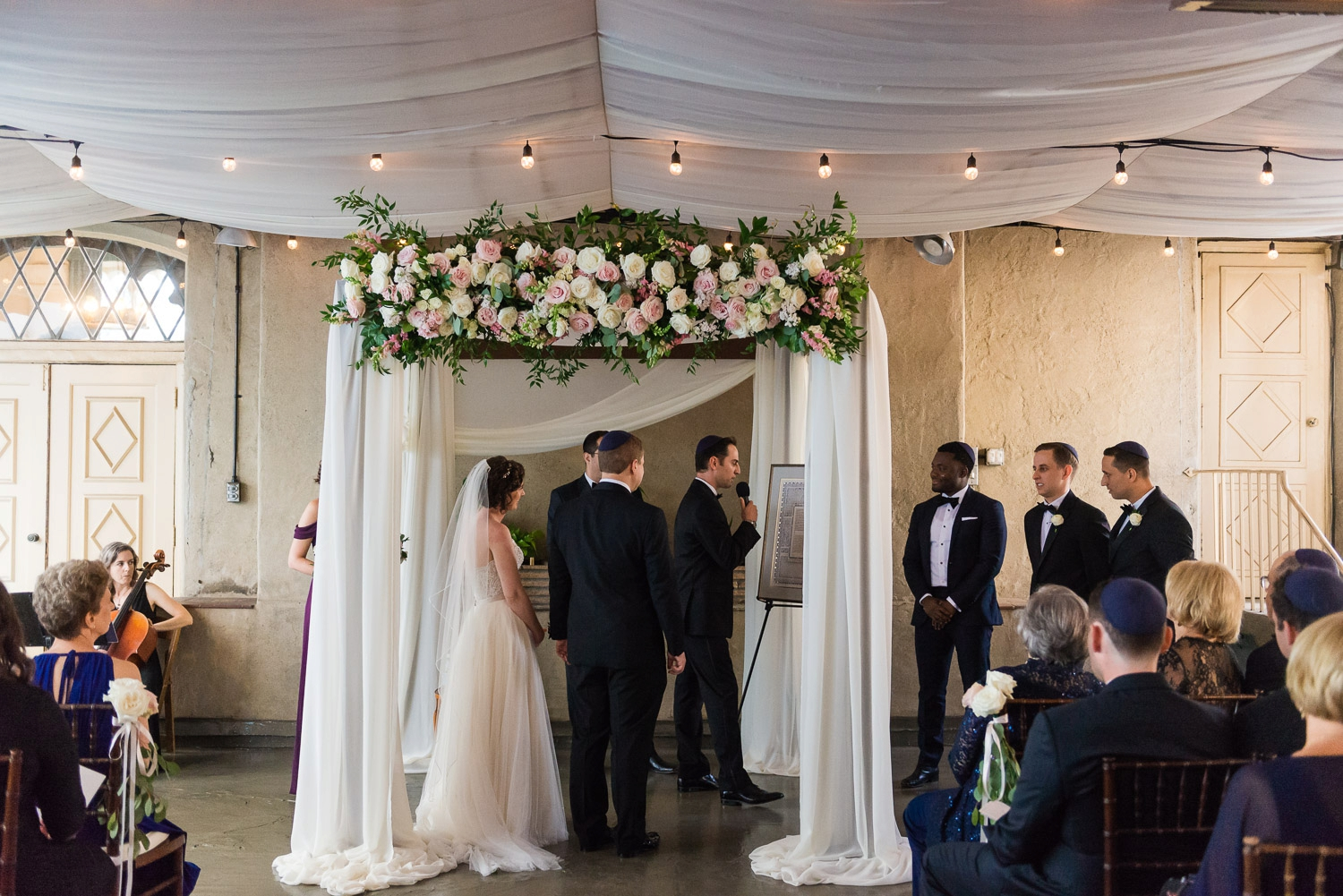 Bride and groom under the chuppah