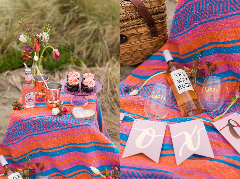 Beachy Valentine's Day picnic