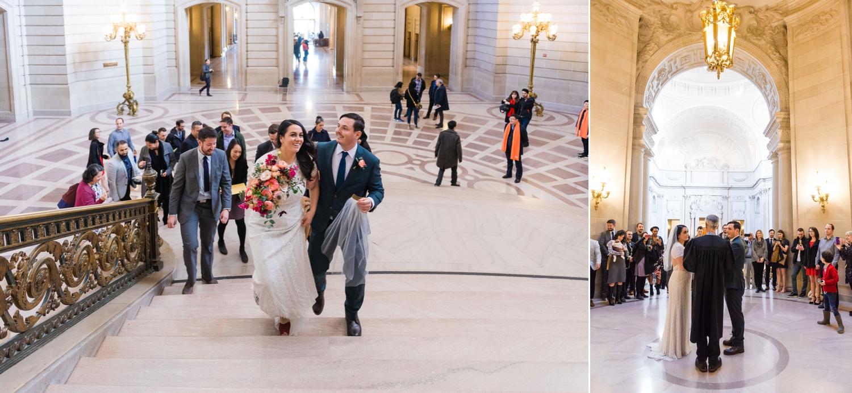 Civil ceremony at San Francisco City Hall