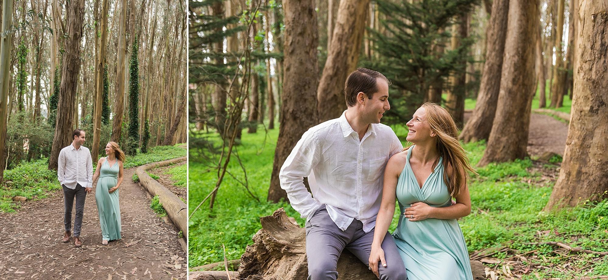 Presidio Wood Line maternity photography