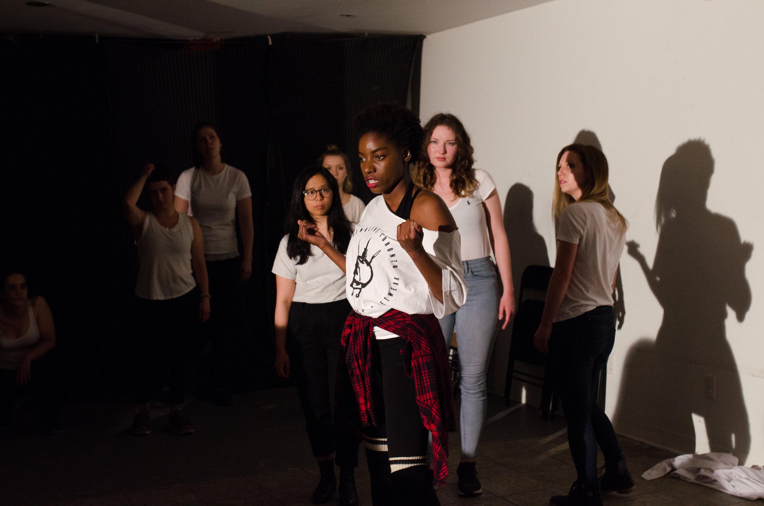 Participant Alia Ettienne Delivers a poignant monologue (Photo: Samantha Polzin)