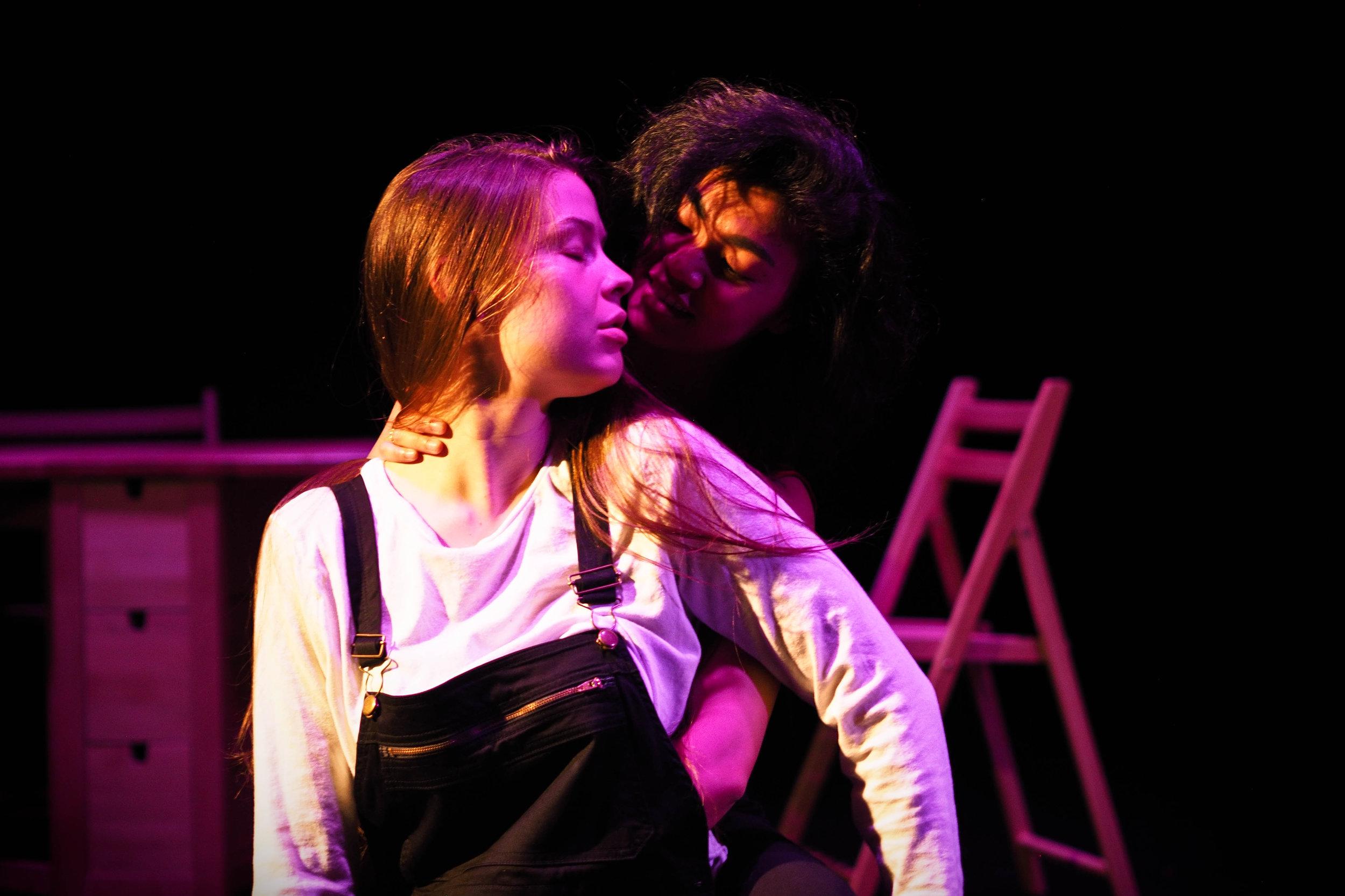 Hannah Whitmore as Valencia and Belinda Corpuz as Janine. Photo: Magnus Berg