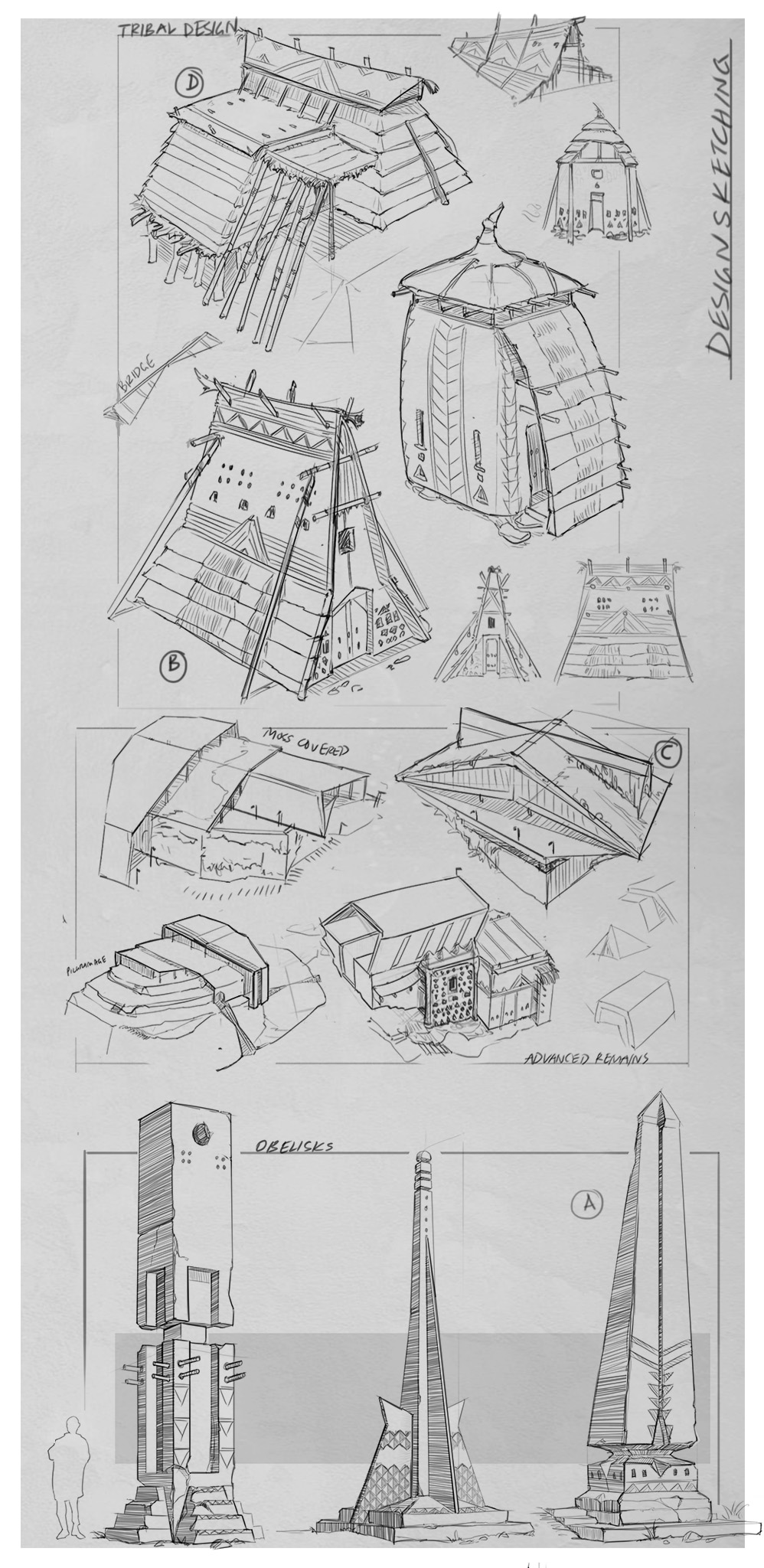 Concept Sheet | Design sketches for REMNANT project.