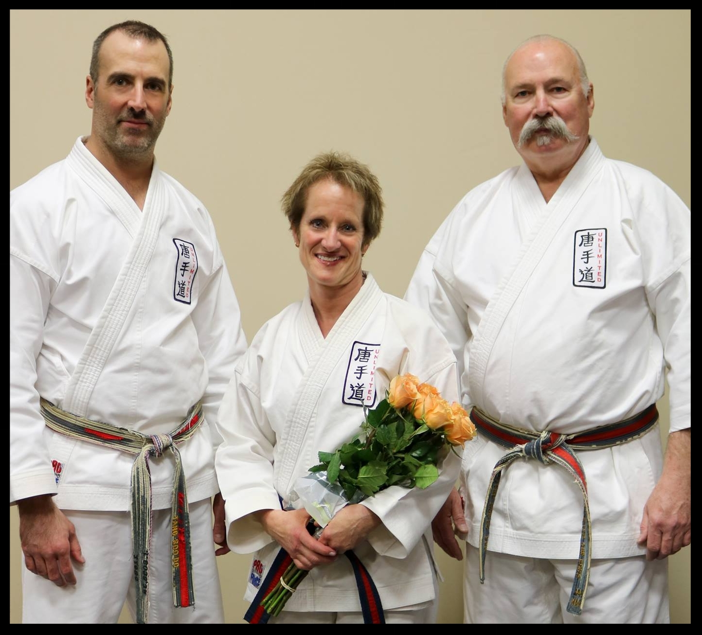 Master Joe Goss Jr., Master Karen Jones, and Master Joe Goss Sr.