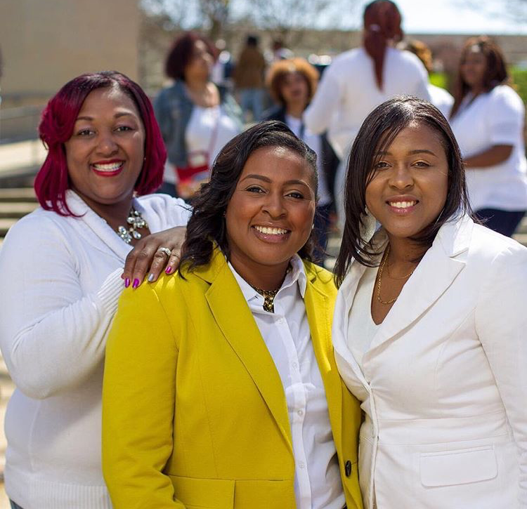 Photographer LaQuisha Bridges-Smith, Mayor Lovely Warren, and Camille McIntyre of iROC Women at Manhattan Square Park for the 100 Women Photo Shoot.