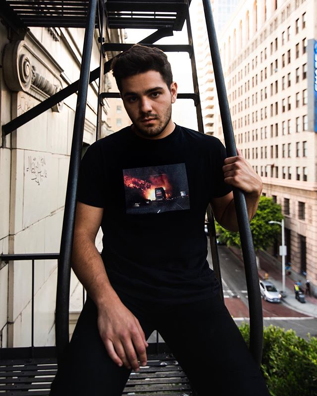 The Getty Tee - available now on @trillnewyork and our web store 🌇