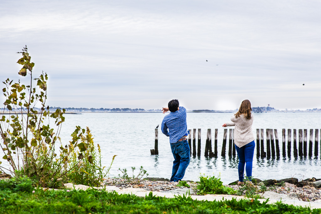 Castle Island Engagement Shoot South Boston, MA | Erica and Richard