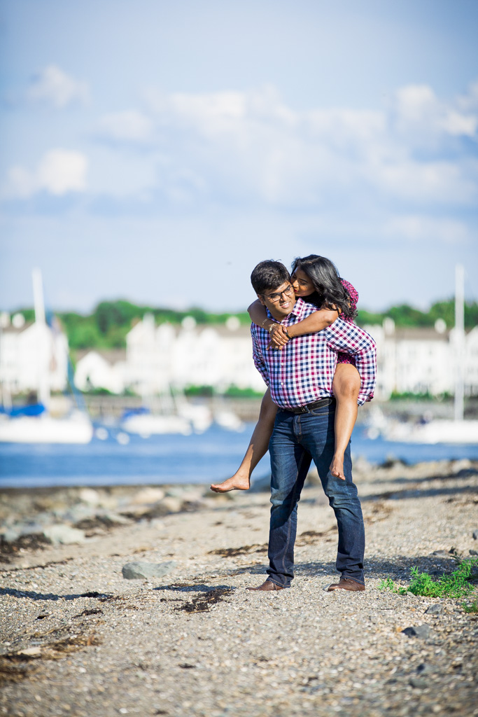 Webb Memorial State Park Engagement Session Weymouth Ma | Shirin and Sammit