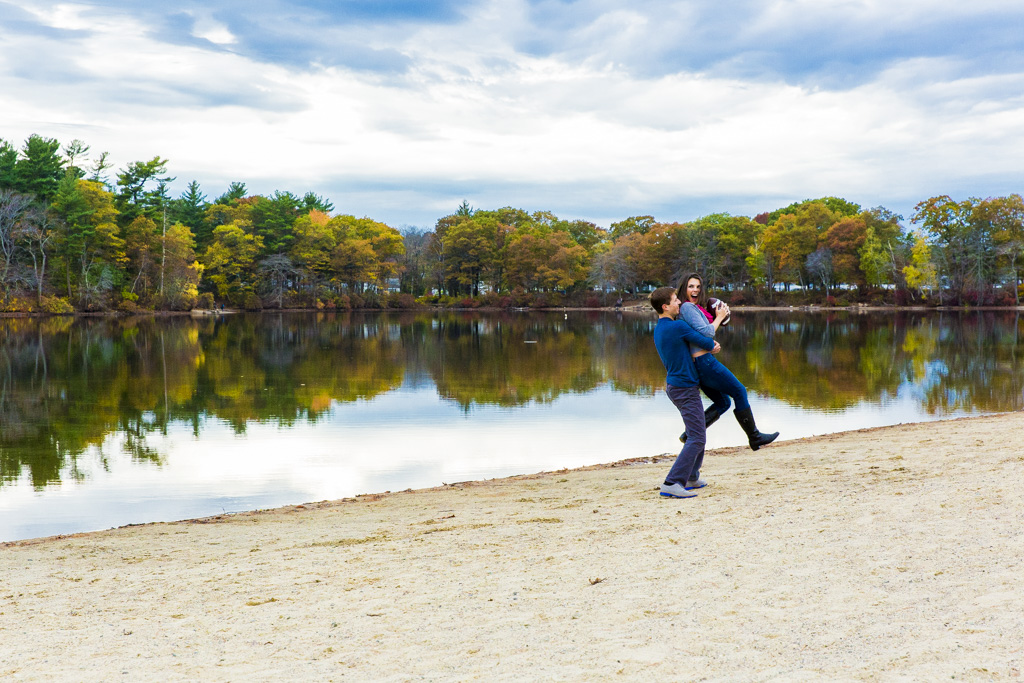 Houghtons Pond Engagement photos Milton, MA | Meaghan & Tim