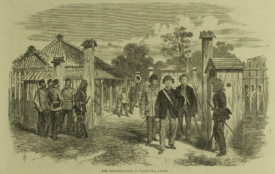 The Entrance Gate of Yokohama in 1868