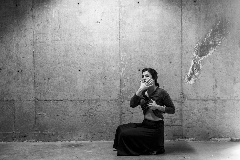 Untitled self portrait (after Francesca Woodman)