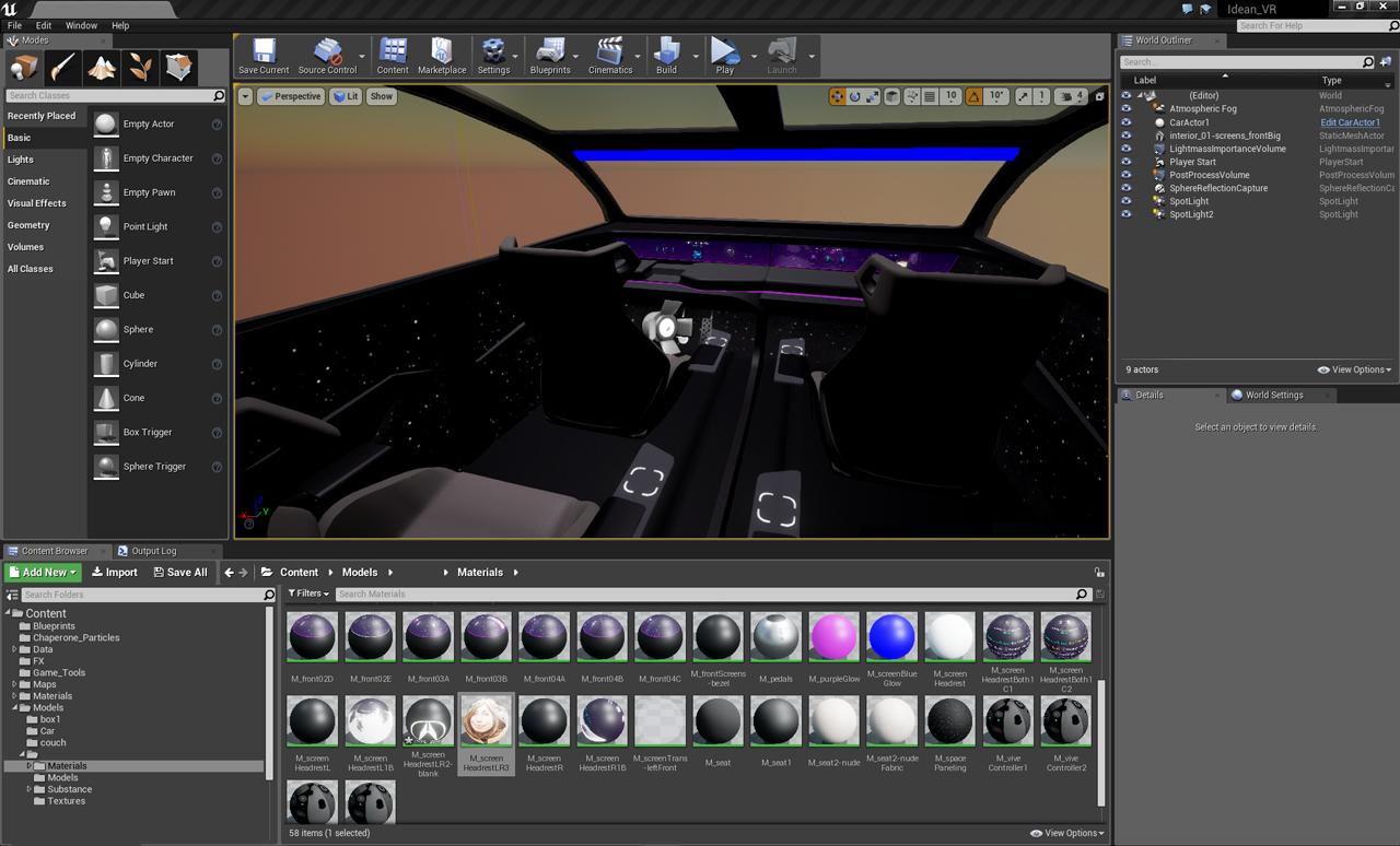 Car Interior in Unreal