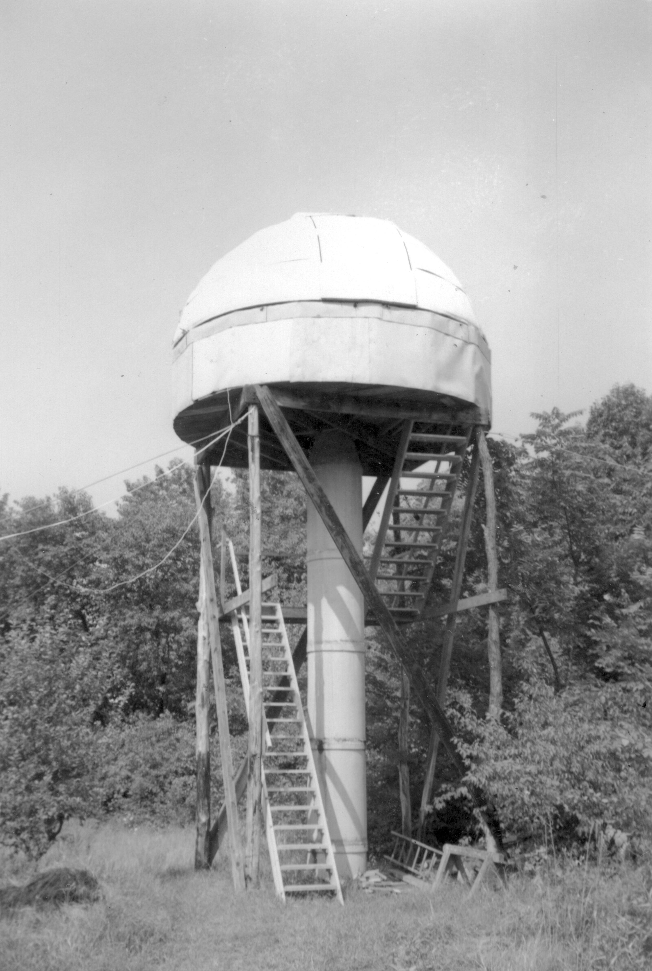 Incredible photo of Robert's telescope that he built in high school!