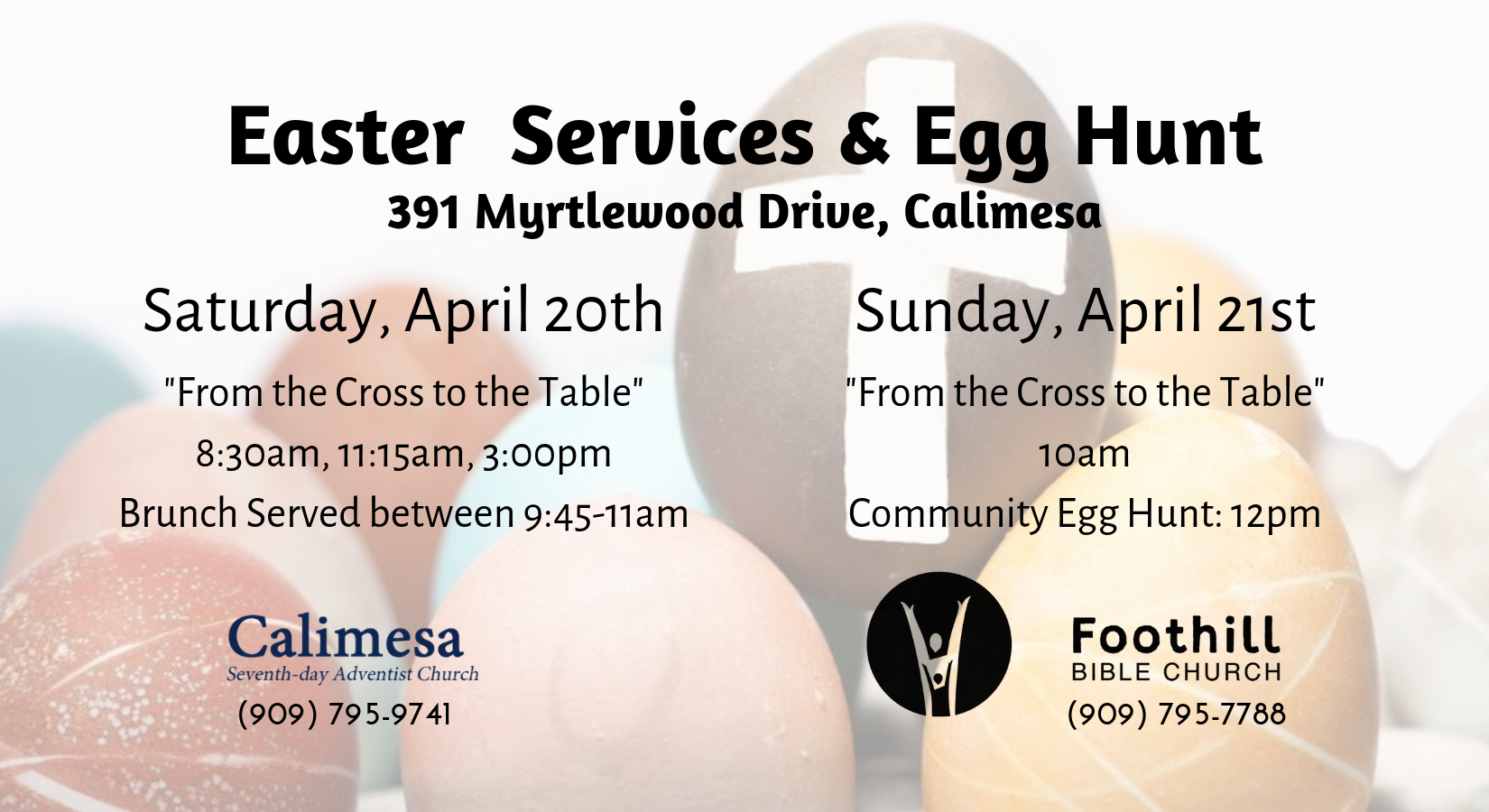 Easter Service and Egg Hunt — Foothill Bible Church