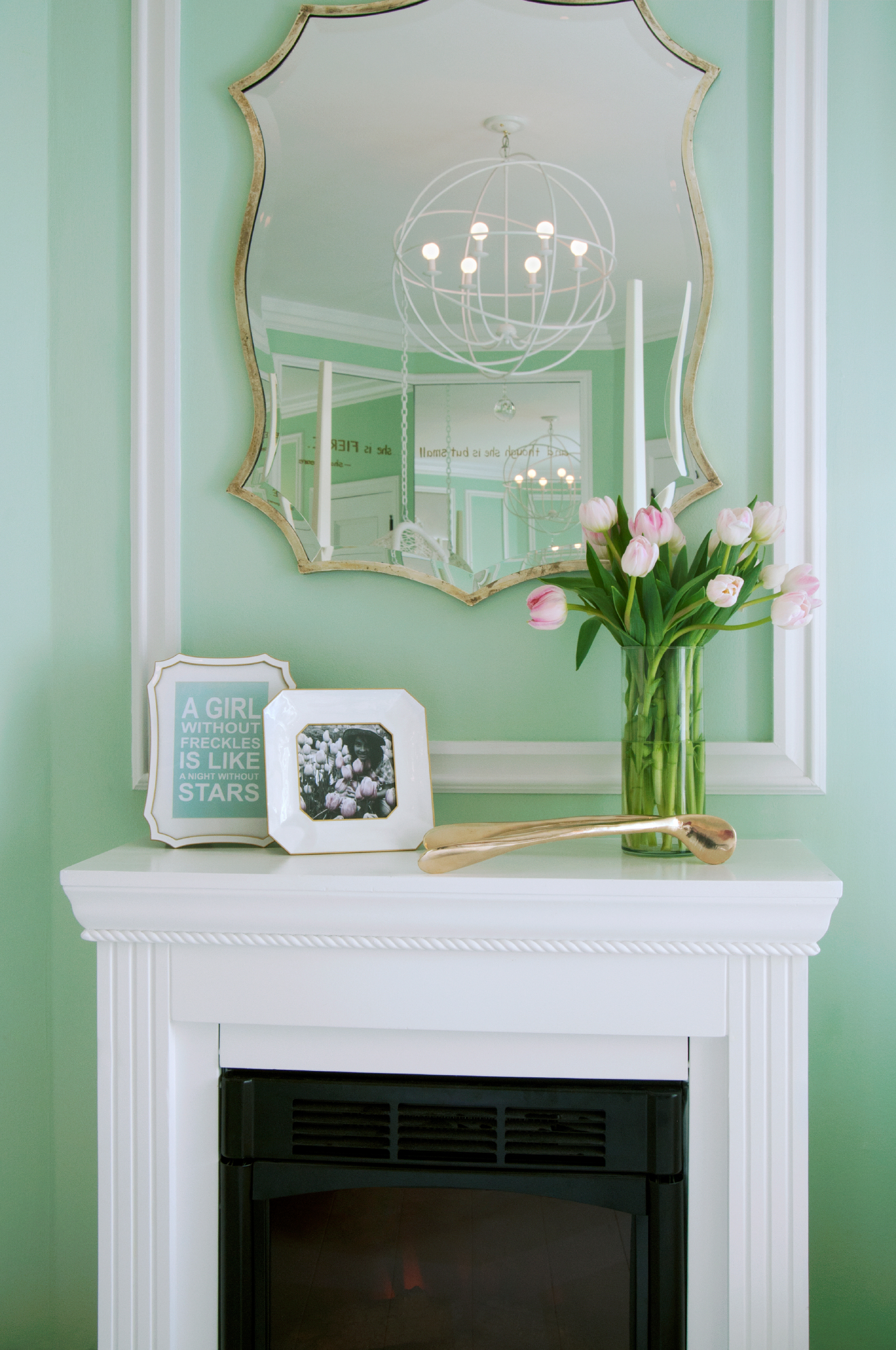 White Fireplace Design