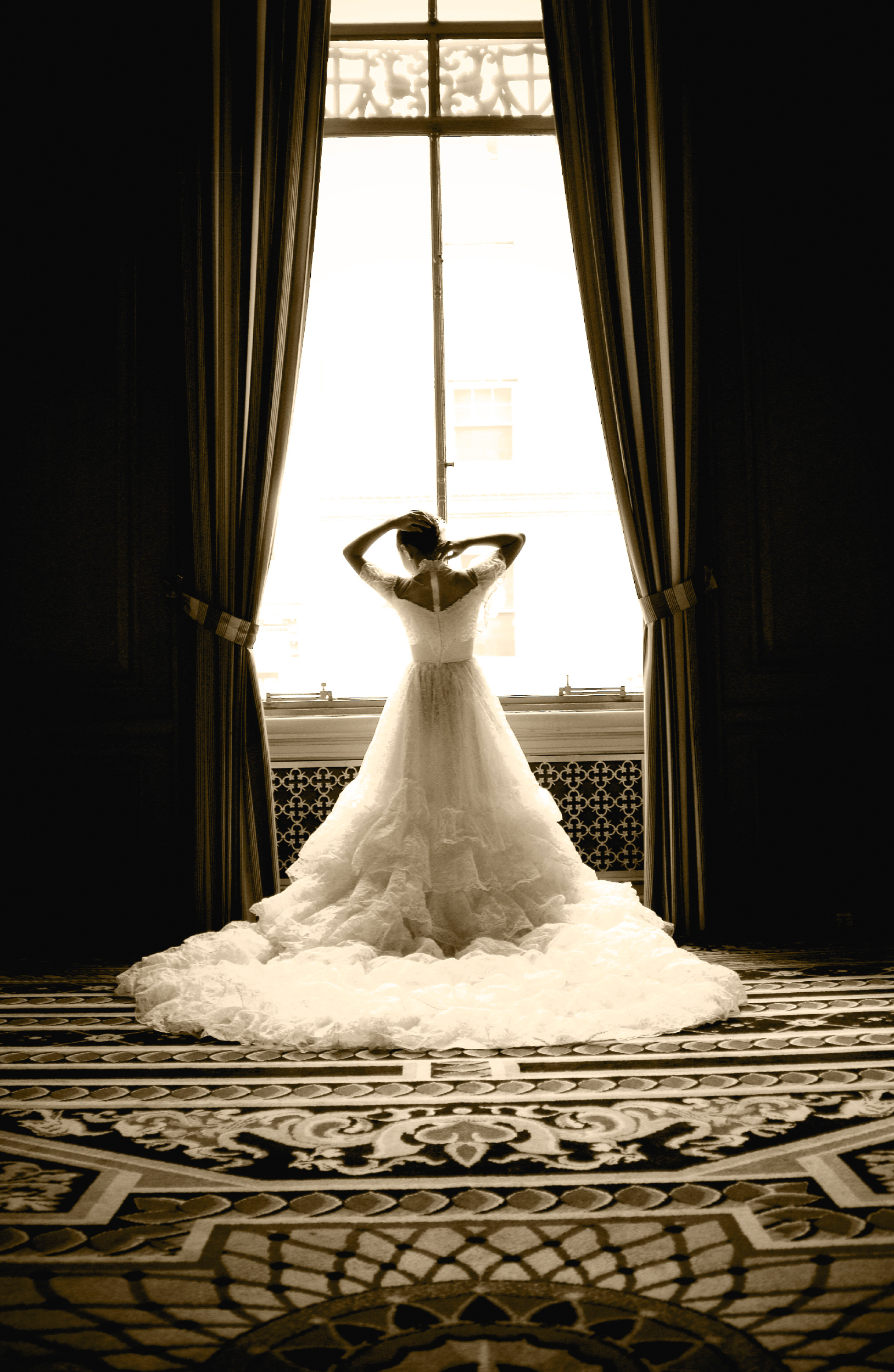 Bride at Sir Francisco Drake Hotel