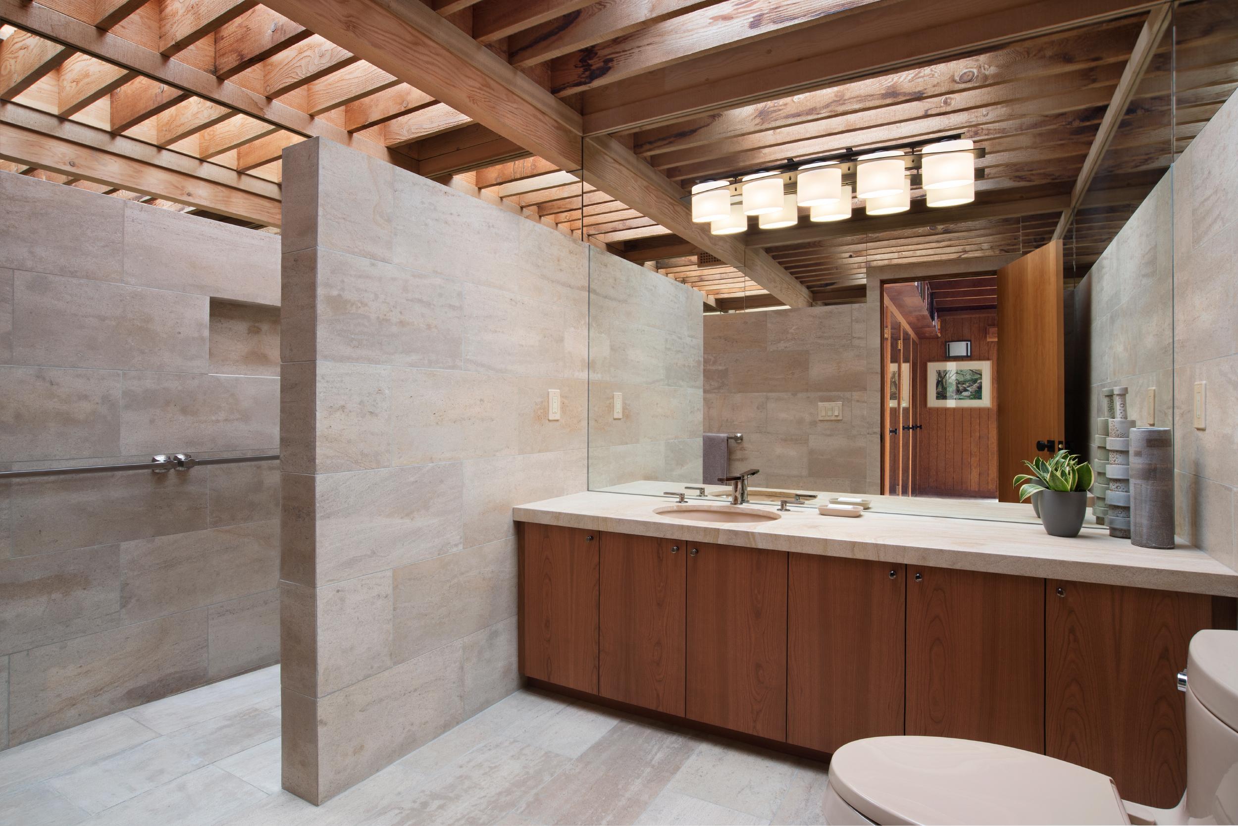 Stone Tile Bathroom Design