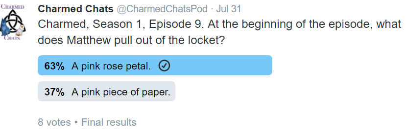 """This was the poll we put up on Twitter. As you can see, """"pink rose petal"""" was the winning answer. Therefore, more people agreed with Kat!"""