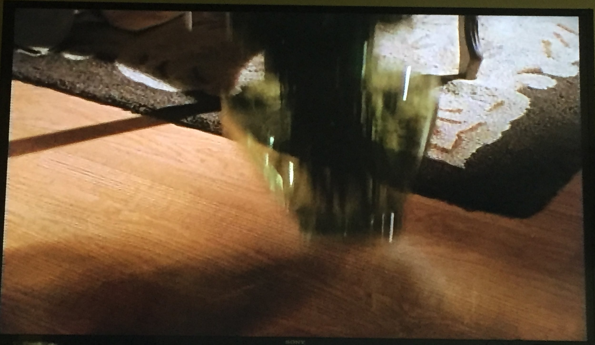 The vase as it falls.