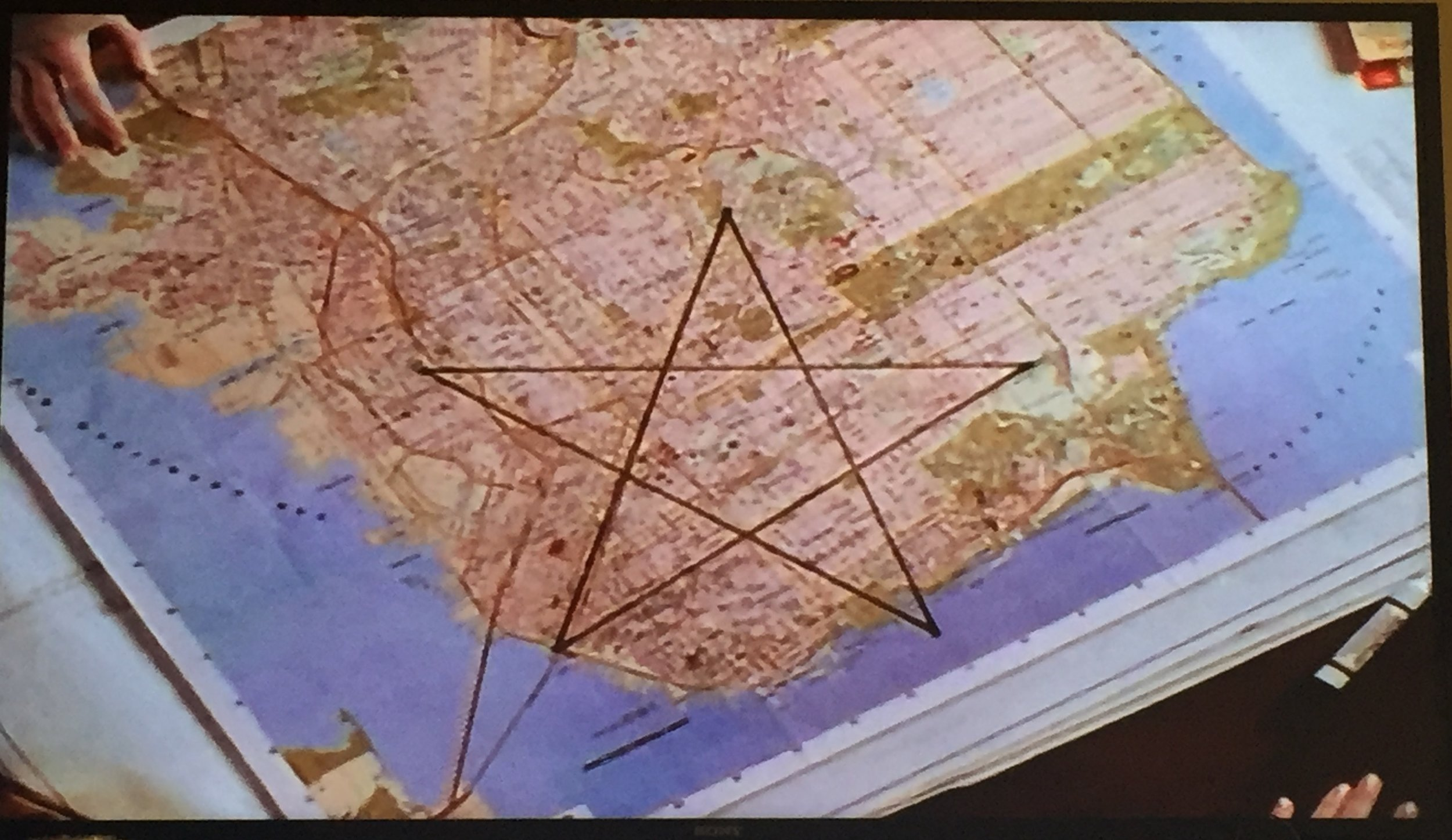 If you don't know what a pentagram looks like, this is a pentagram.