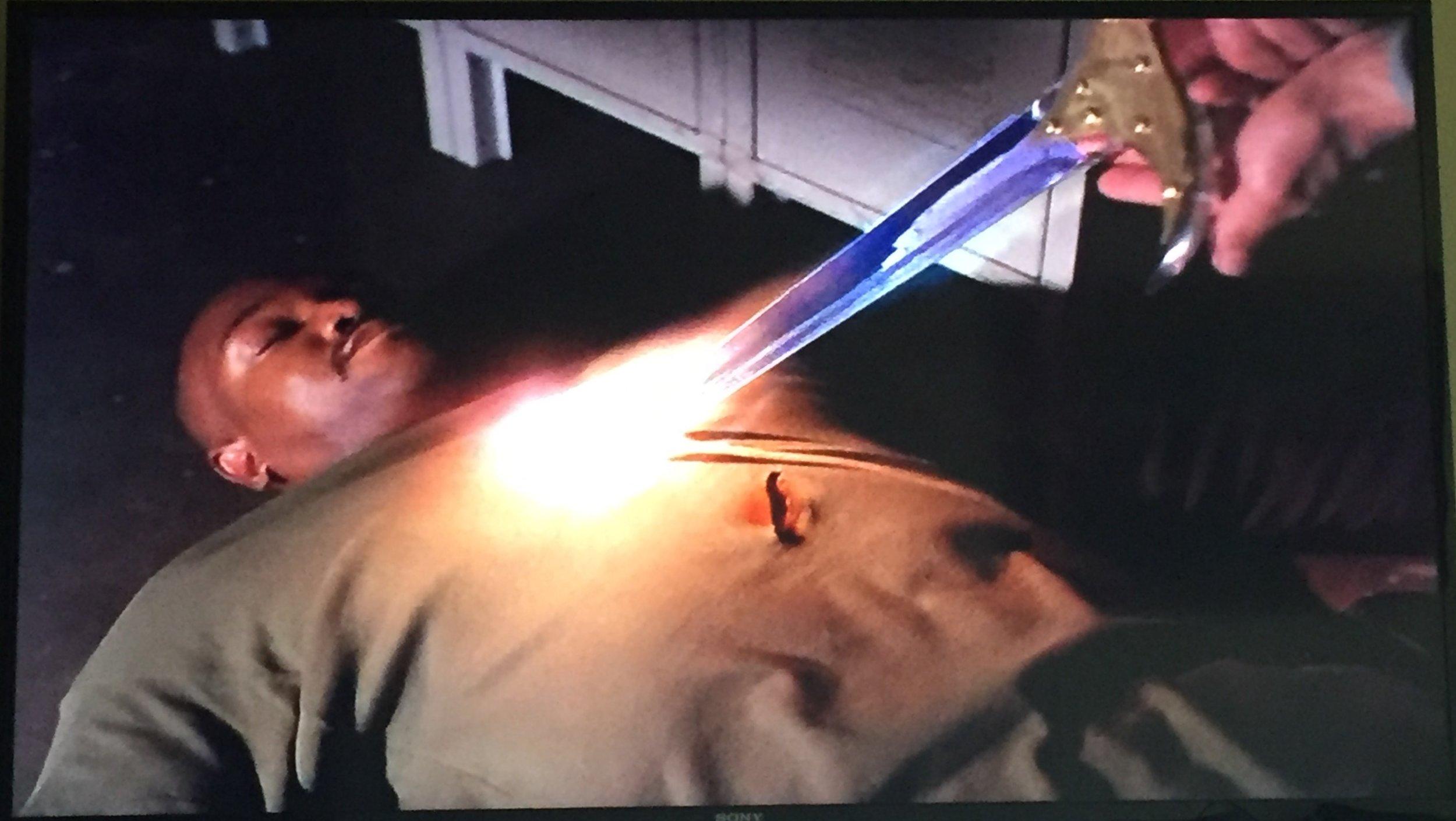Gotta love a glowing sword!