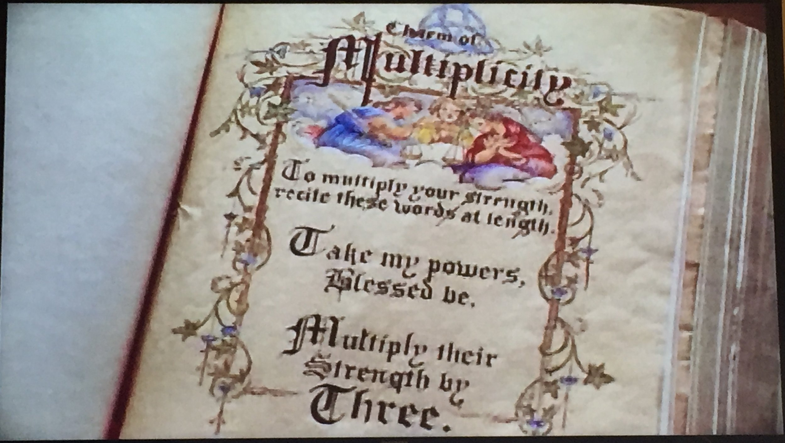 The spell Prue read to multiply! Maybe, if she had read the title of the spell, she'd have known what it would do...