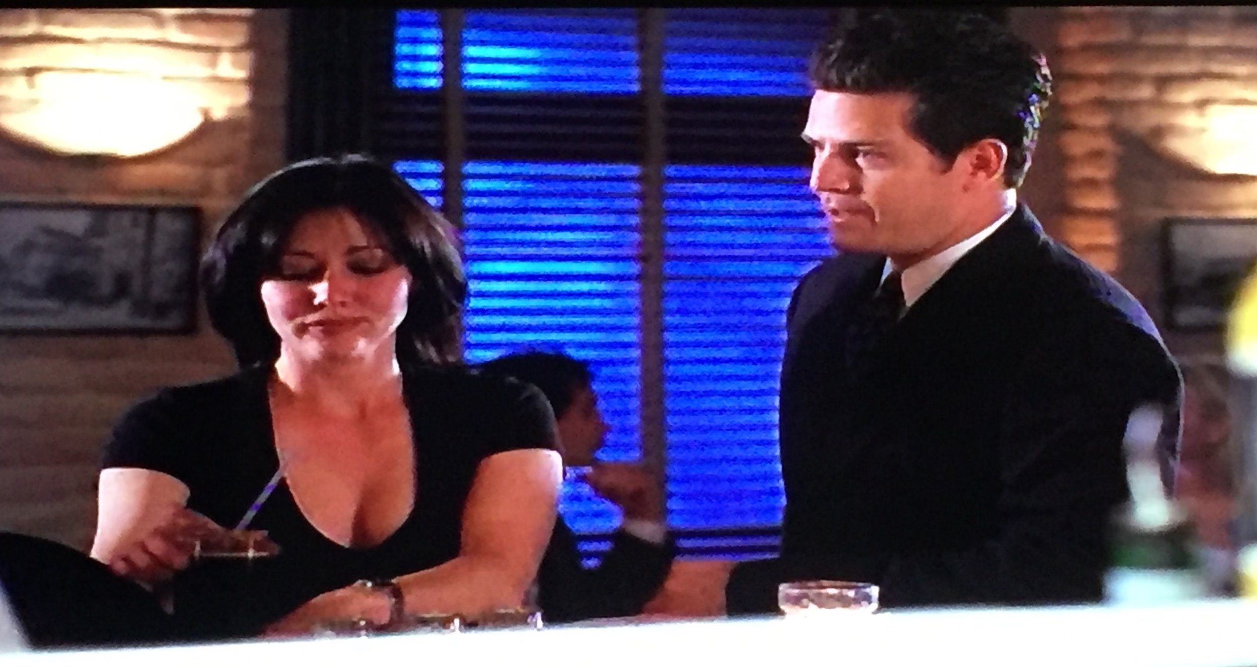 """We get to see what Prue's """"usual"""" drink is, as well as seeing Andy's nice suit!"""