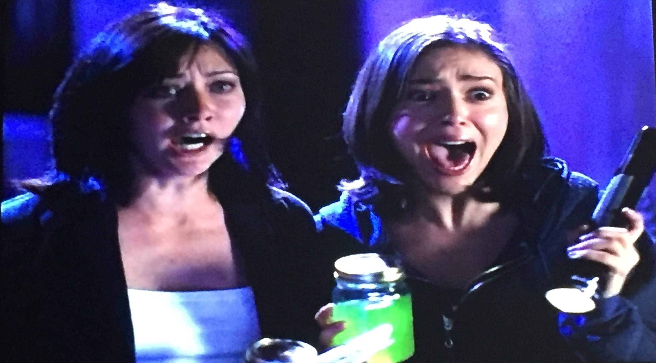 Prue and Phoebe are surprised by a grimlock.