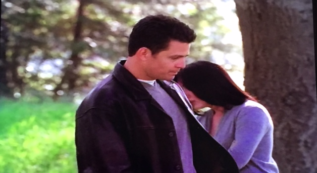 Andy and Prue at the tree...