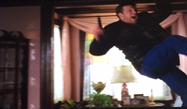 ...and his stunt double goes flying...