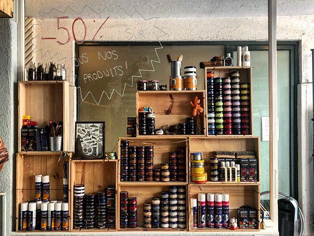 @lanouvellecordonnerie -50% sur tous nos produits jusqu'à la fermeture estivale !!!