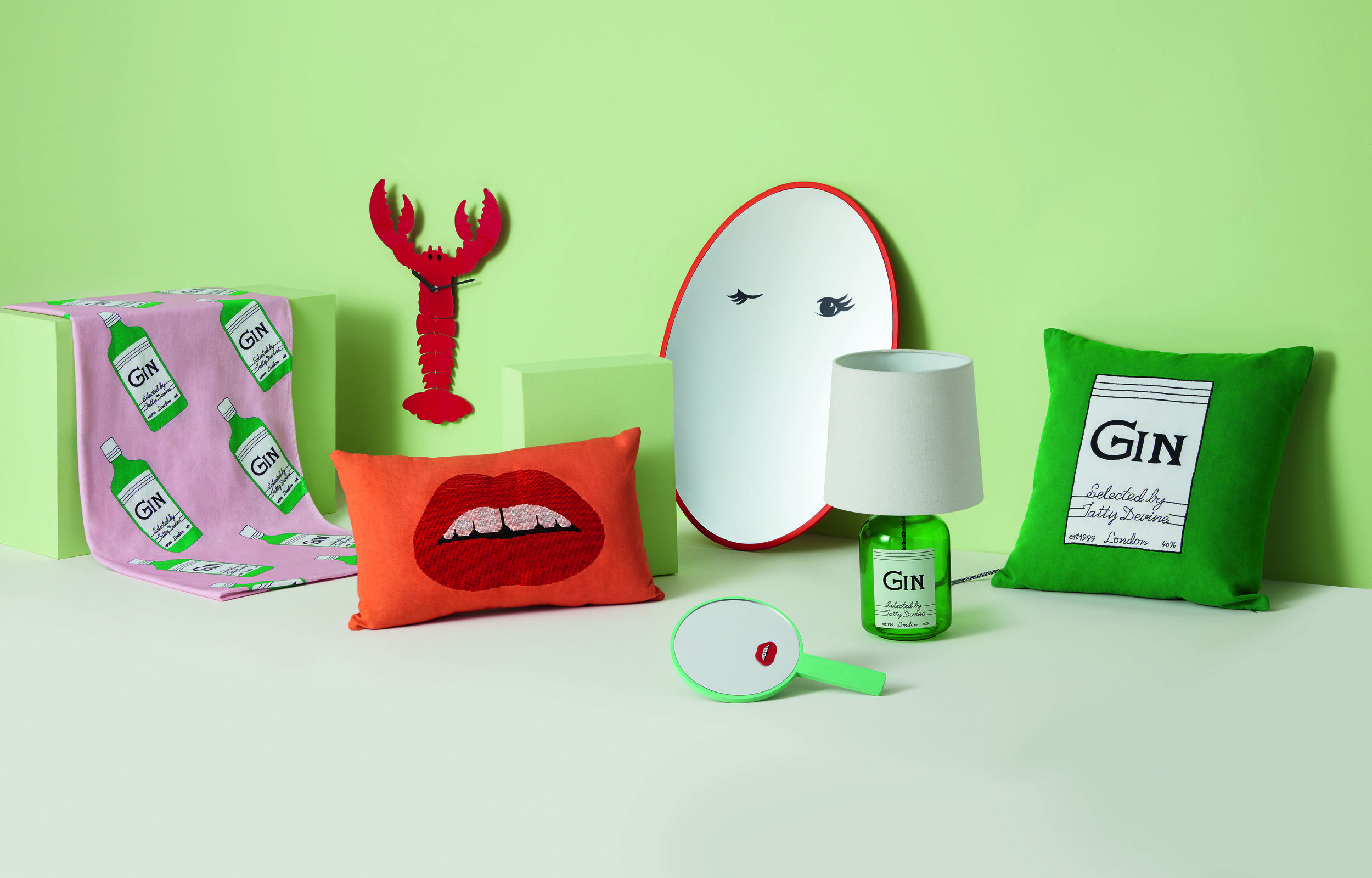 Art direction for a capsule collection between collaborating brands Tatty Devine and Made.com